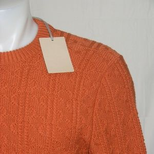 Brioni Heavy Wool Cable Knit Sweater Small Size 46